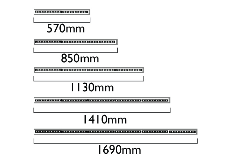 Lengths - Muliple of 282mm LED boards